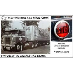 "CTM 24169 US VINTAGE TAIL LIGHTS (DIETZ 747, 7"")"