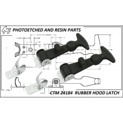 CTM 24184 Rubber hood latch