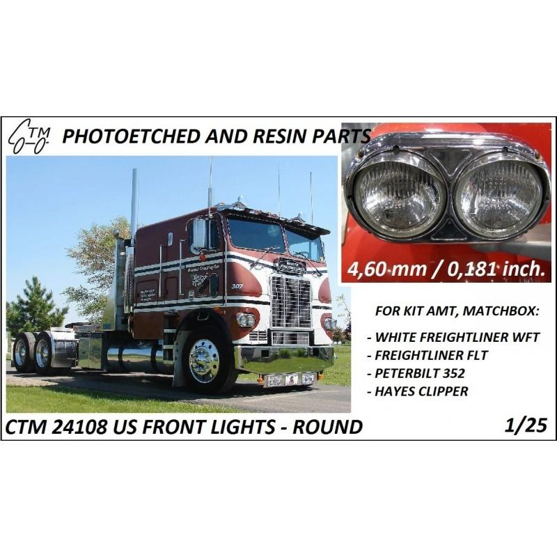 CTM 24108 US Front lights - round (AMT, Ertl, Matchbox)