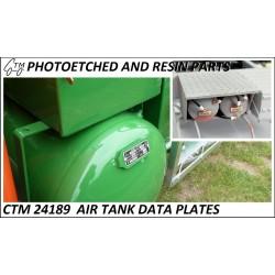 CTM 24189 Air tank data plates
