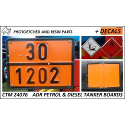 CTM 24076 ADR Petrol and diesel tanker boards