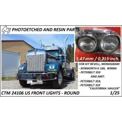 CTM 24106 US Frong lights - round (Rrevell, Monogram)