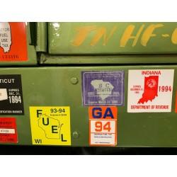 CTM 24217 Fuel permit stickers