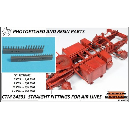 CTM 24231 STRAIGHT FITTINGS FOR AIR LINES