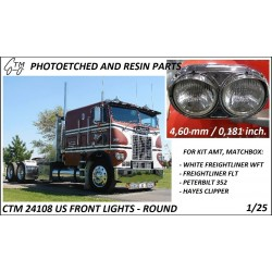 CTM 24108 US Front lights - round (AMT, Ertl, Matchbox)